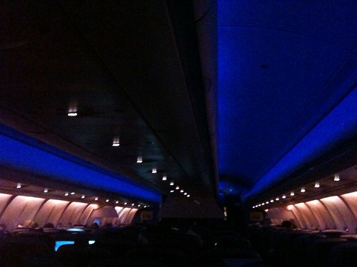 "KLM A330-300 Cabin Lights, ""night"" mode"