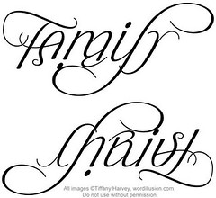The Word Family Tattoo Pics Family  amp  christ ambigram v1The Word Family Tattoo Pics