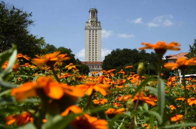 Campus scenes 2012 McCombs, Union, Tower and flowers