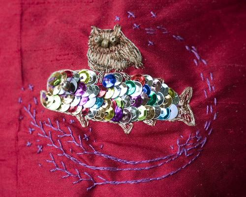 Owl & sparkle fish