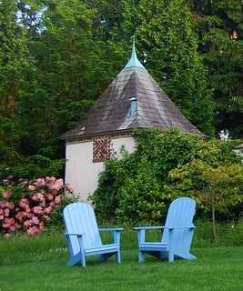 "Empty Chairs at Chanticleer - An American ""Pleasure Garden"" near Philadelphia"
