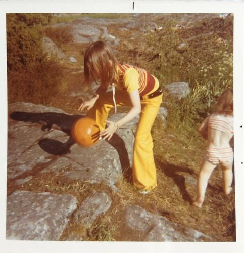 Anna och jag i Öregrund 1971