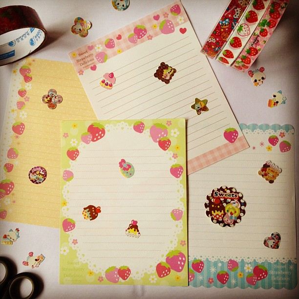 Going to sit and write a letter today, I can't wait!