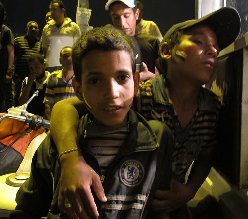 Street children, Tahrir Square