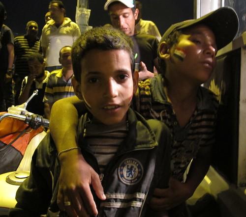 Street children, Tahrir Square