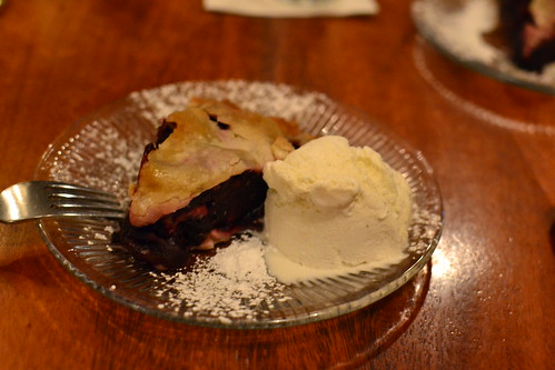 Dark Cherry Pie with Vanilla Ice Cream by pjpink