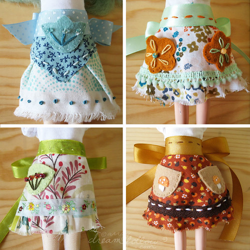 4 apron skirts
