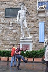 A replica of the Statue of David