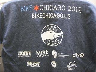 Bike Chicago 2012 T-Shirt Back