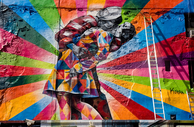 Kobra mural in chelsea flickr photo sharing for Mural eduardo kobra