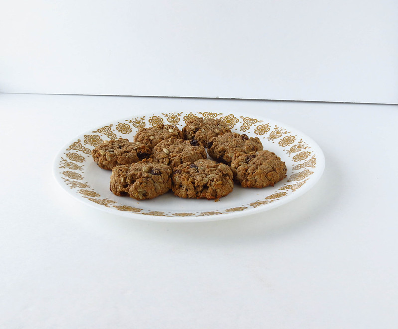 Rye Raisin Breakfast Cookies with Sunflower Seeds