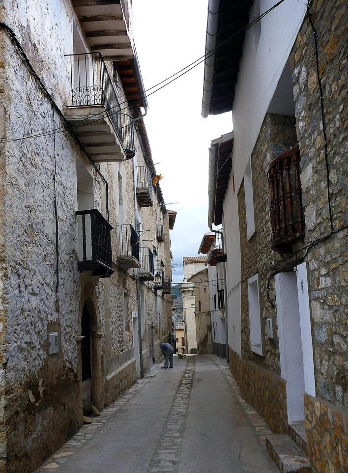 Calle de Zorita del Maestrazgo. Autor, Joaquin Pons