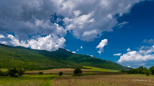 blue mountain green nature grass clouds landscape nikon hill may bluesky bulgaria bushes 2016 d3200 varbovchets