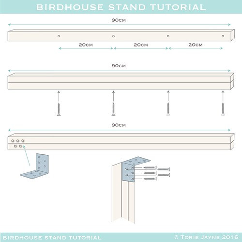 birdhouse stand plans - 2-01