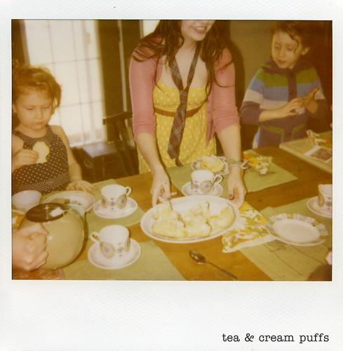 polaroid - tea & cream puffs