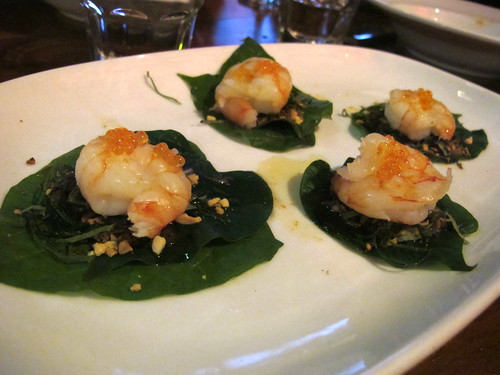Betel leaf with prawn