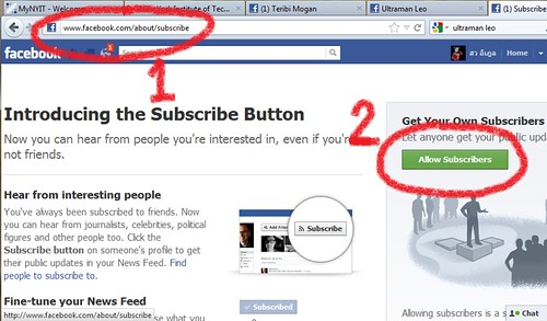 วิธีตั้งค่าให้คนติดตามใน Facebook Timeline