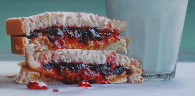 Big PBJ & Milk by Mary Ellen Johnson