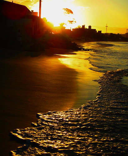[フリー画像素材] 自然風景, ビーチ・海岸, 朝焼け・夕焼け ID:201204082000