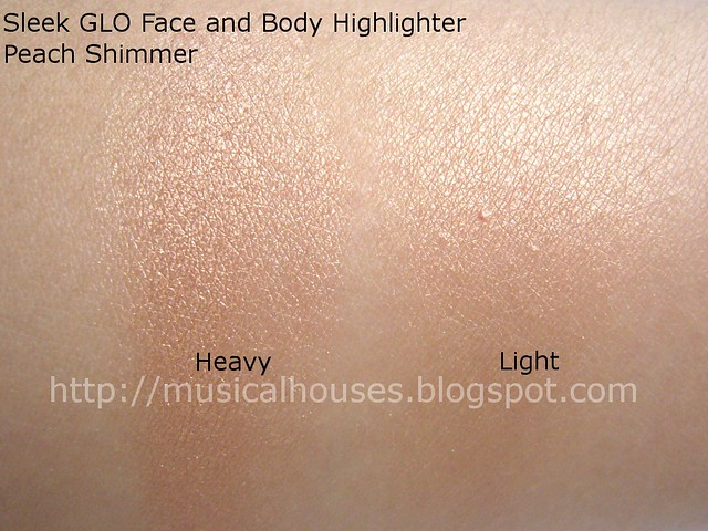 Sleek Glo Highlighter Peach Shimmer Swatch