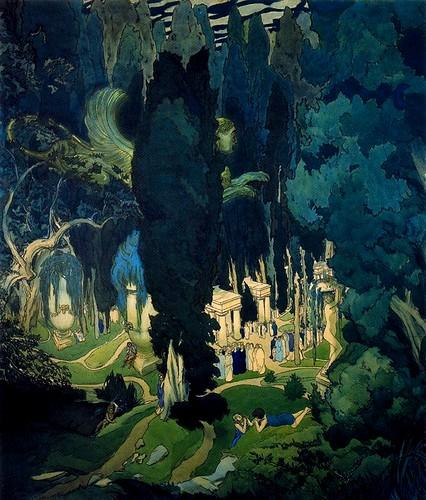 Bakst, Leon (1866-1924) - 1906 Elysium (Tretyakov Gallery, Moscow, Russia)