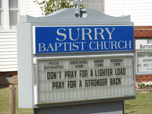 Surry Church Sign