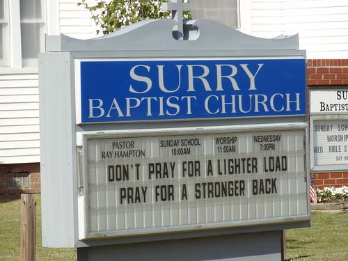 Surry Church Sign