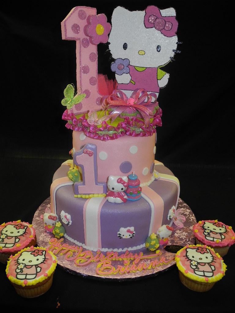 Pleasing Hello Kitty First Birthday Cake Circos Pastry Shop Est 1945 Funny Birthday Cards Online Inifodamsfinfo