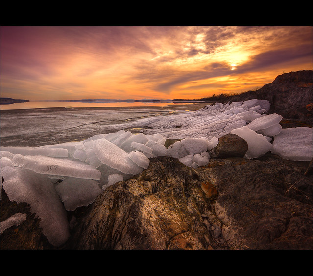 Ice Flow Sunset