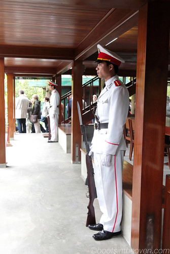 Standing Guard at Uncle Ho's Stilt House