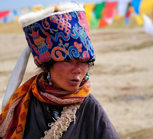 The beautiful Nomad people of Tibet, pilgrimage at the Lake Manasarovar. by reurinkjan