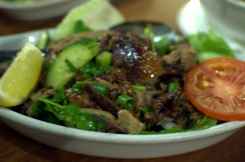 Roast duck salad