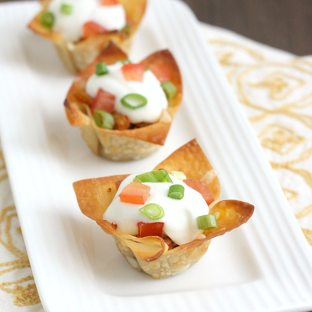 Mini Chicken Taco Cups | Flickr - Photo Sharing!
