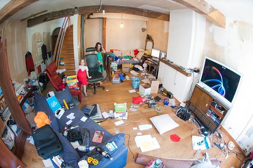 De ramp, na twee dagen opruimen