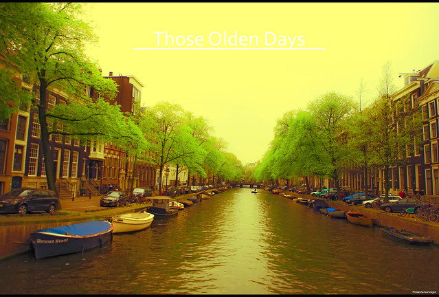 Amsterdam Canal view - I (Those Olden Days)~Explored 05052012