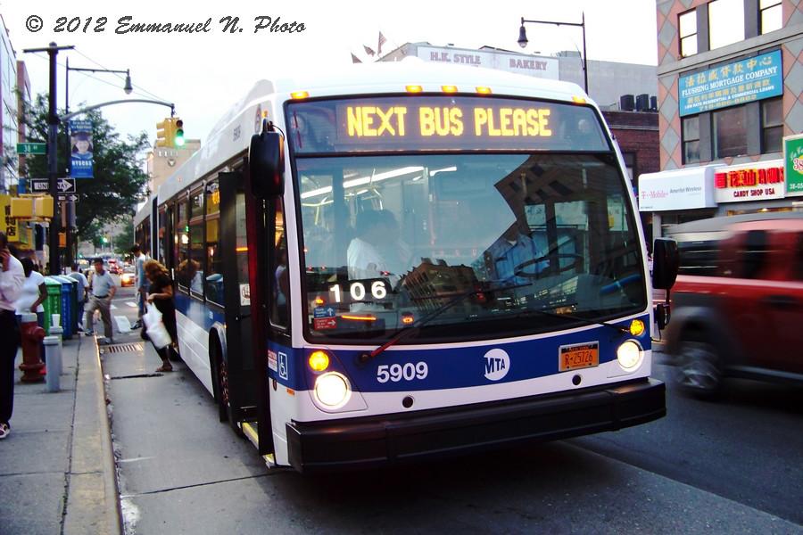 MTA NovaBus LFS Artic 5909