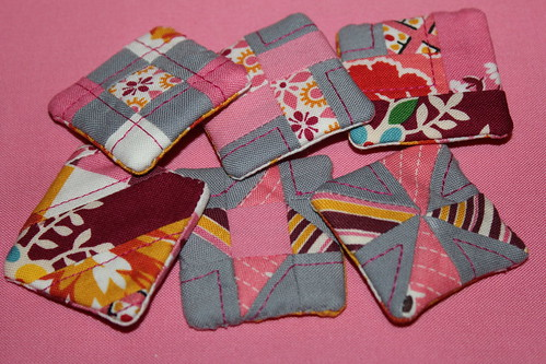 Zakka Style Itty Bitty Quilt Block Magnets
