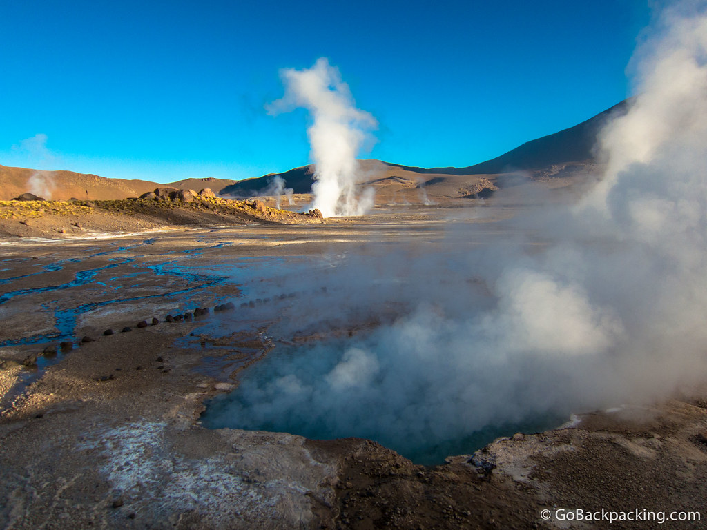 The geysers are natural vents for magma that heats up an underground water source