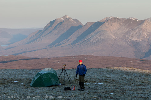 camping camp snow mountains cold sunrise dawn scotland spring highlands frost hiking scottish frosty tent highland backpacking activity munro lightweight achnasheen fannichs fionnbheinn