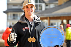 Trevor Philp after winning the Canadian slalom title.