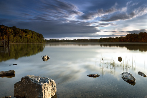 longexposure light sunset lake reflection germantown water clouds canon movement dusk maryland wideangle filters cloudscape waterscape boyds blackhillregionalpark ef2470f28lusm psoup216 120seconds hoyand400 bwcpl 5dmkii singhrayrgnd