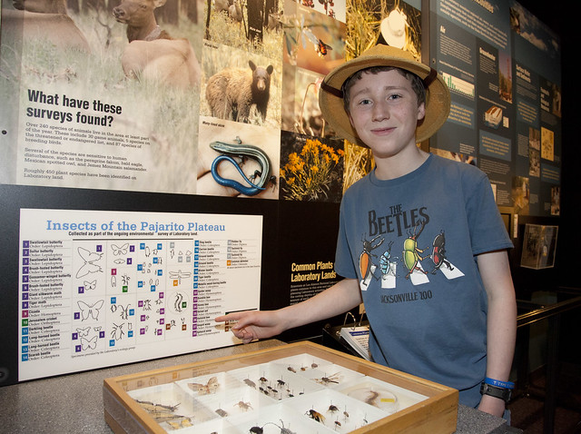 Jacob Marks, a homeschooler and volunteer at the Bradbury Science Museum