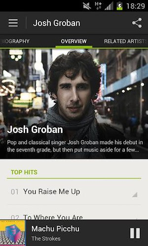 Spotify new Android App