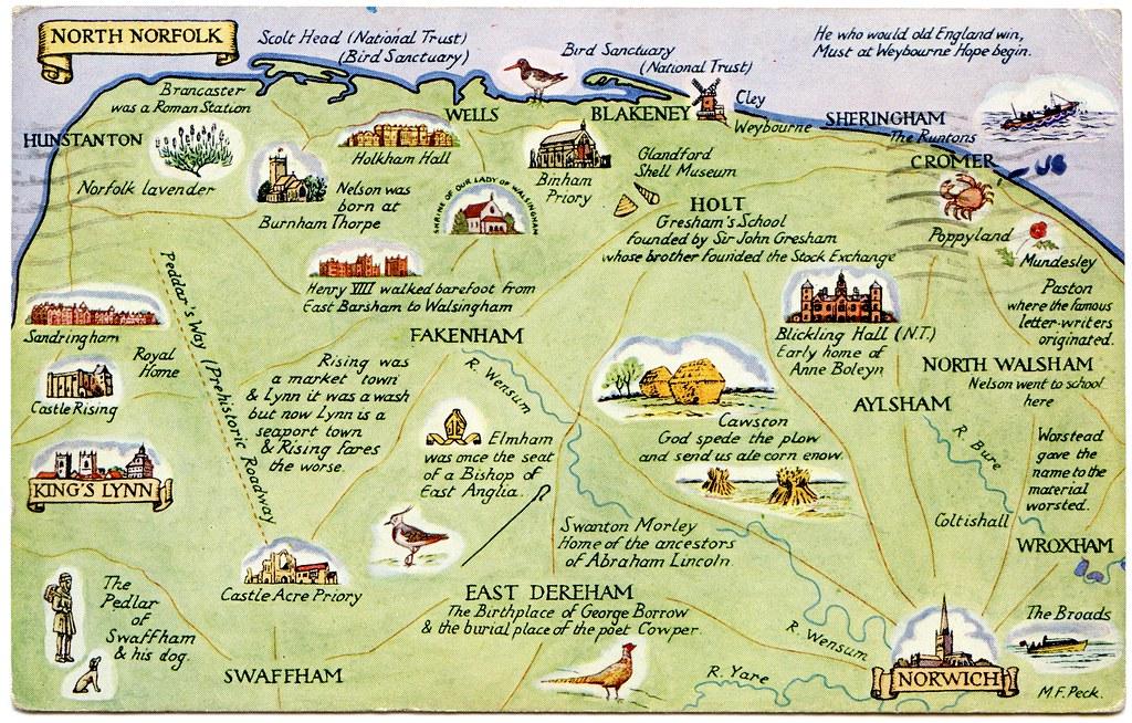 North Norfolk Map North Norfolk Map   Color 2018