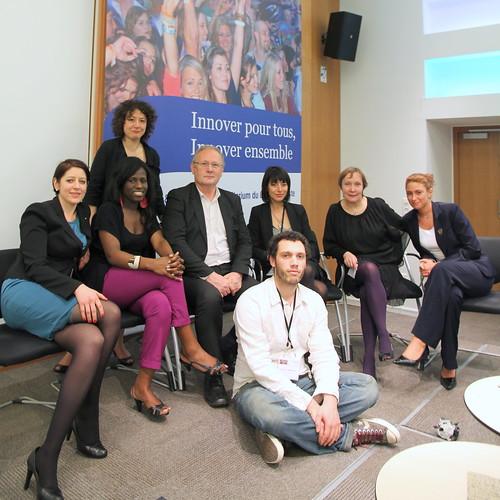 Marc Giget et l'équipe de la Rencontre des Directeurs de l'Innovation