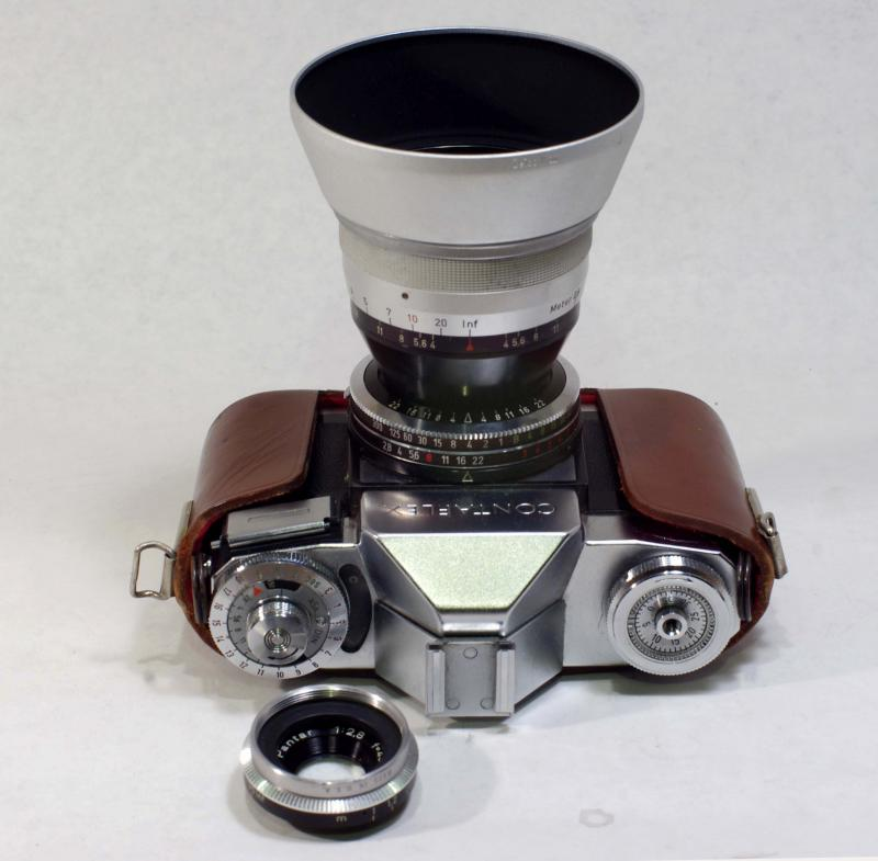 Zeiss Ikon Contaflex Beta with 45mm, 30mm and 75mm lenses