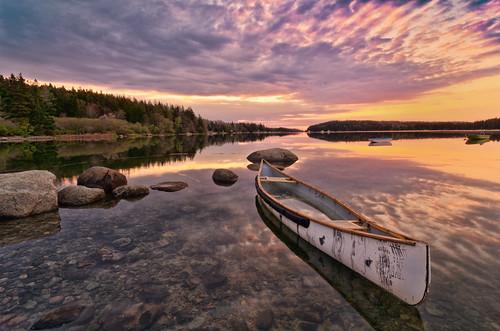 sky water clouds sunrise landscape dawn coast boat rocks maine atlantic canoe coastal deerisle nikcolorefexpro easternmaine topazadjust nikdfine20 reflectionslovers nikviveza2