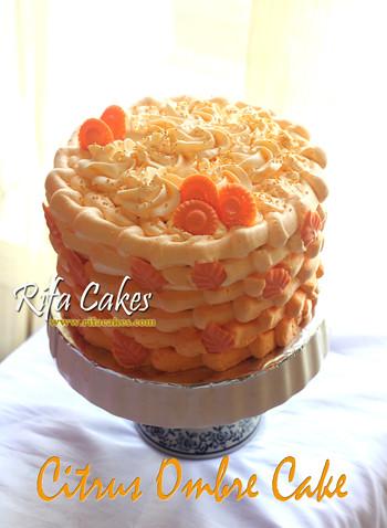 Citrus Ombre Cake
