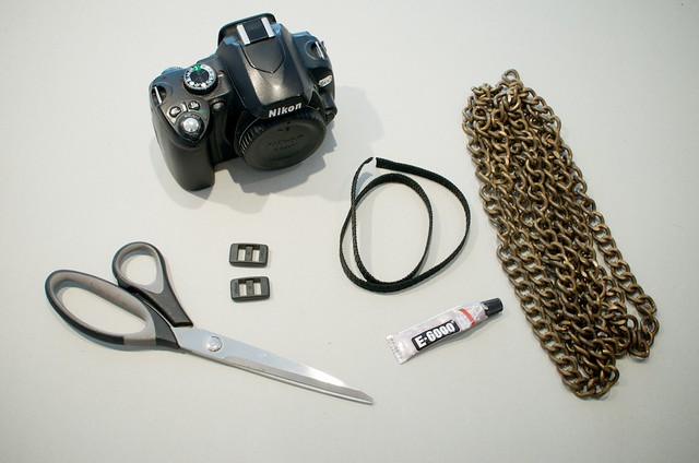 diy chain camera strap process 1