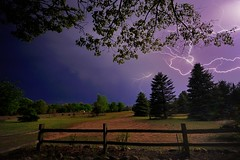 """Lightning""   My front yard  5/15/2012 by Michigan Nut"